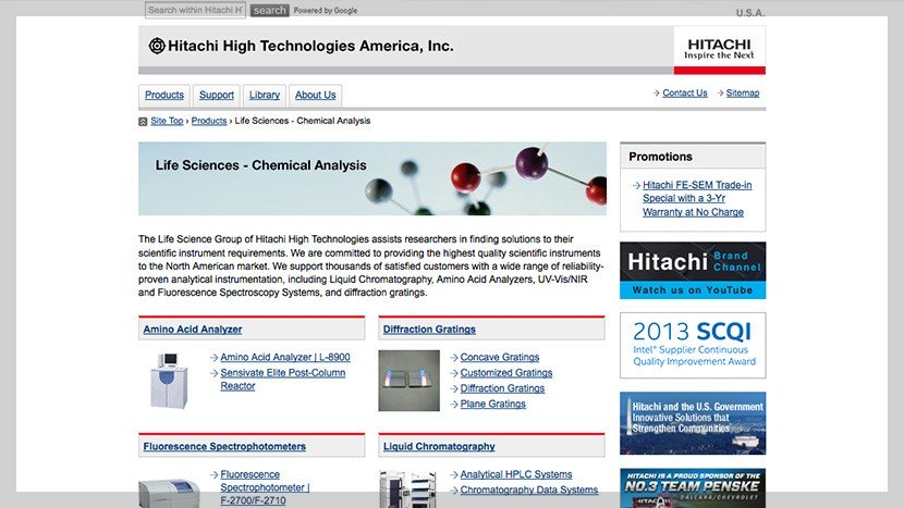 Hitachi Website
