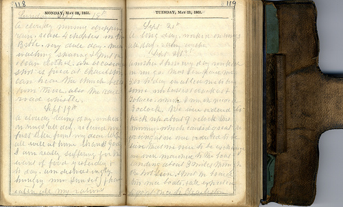 Old faded book